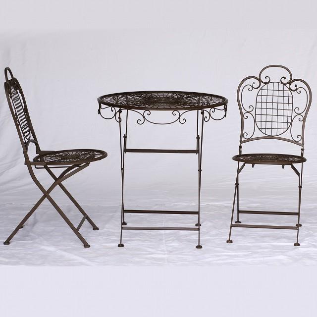 Gartenmobel Set Tisch Klappstuhle 3er Set 1 Klapptisch 2 Stuhle