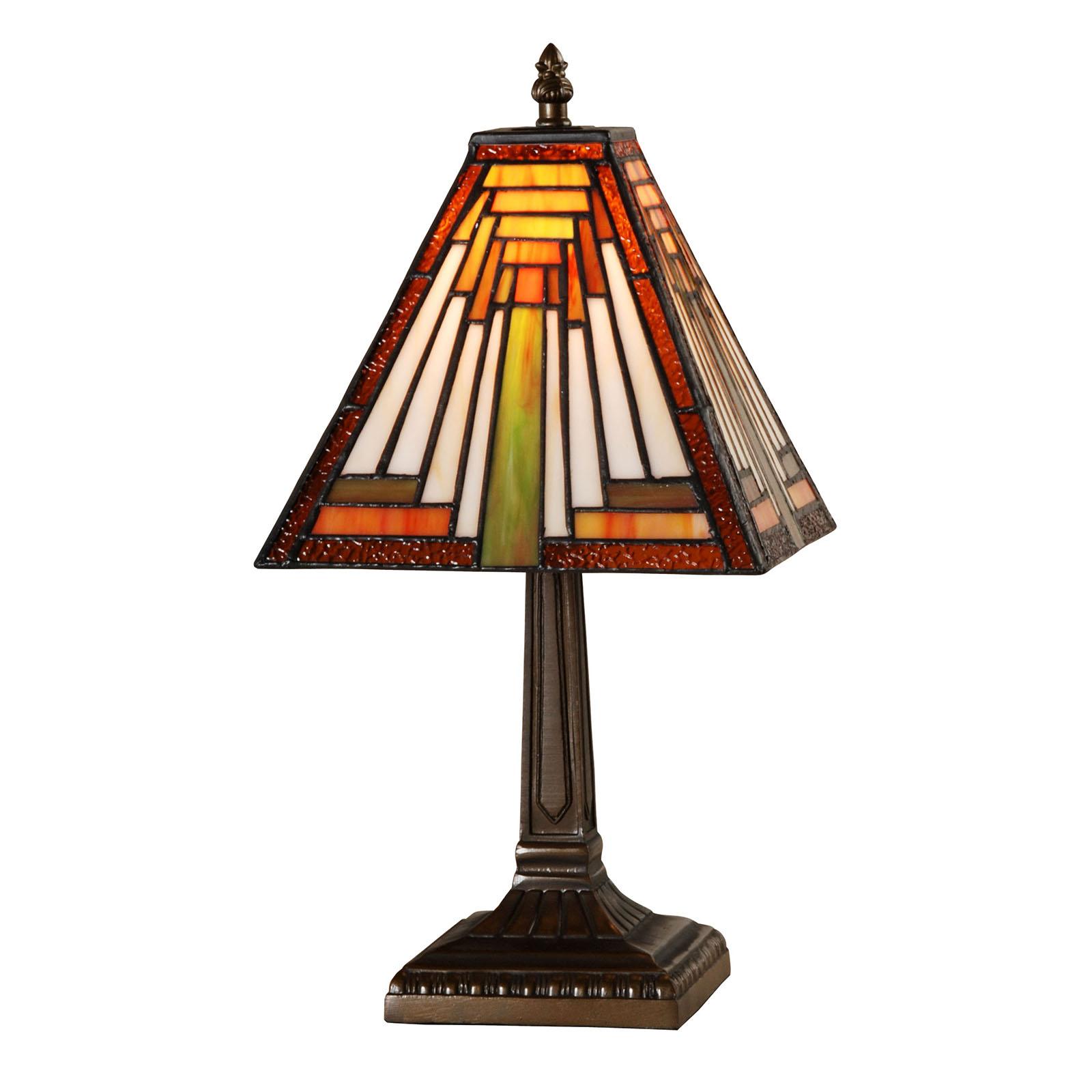 kleine tiffany lampe art deco mit eckigem schirm und