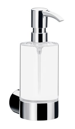 EMCO FINO Seifenspender Kristall-Glas klar, Kunststoff-Pumpe, 200ml, chrom