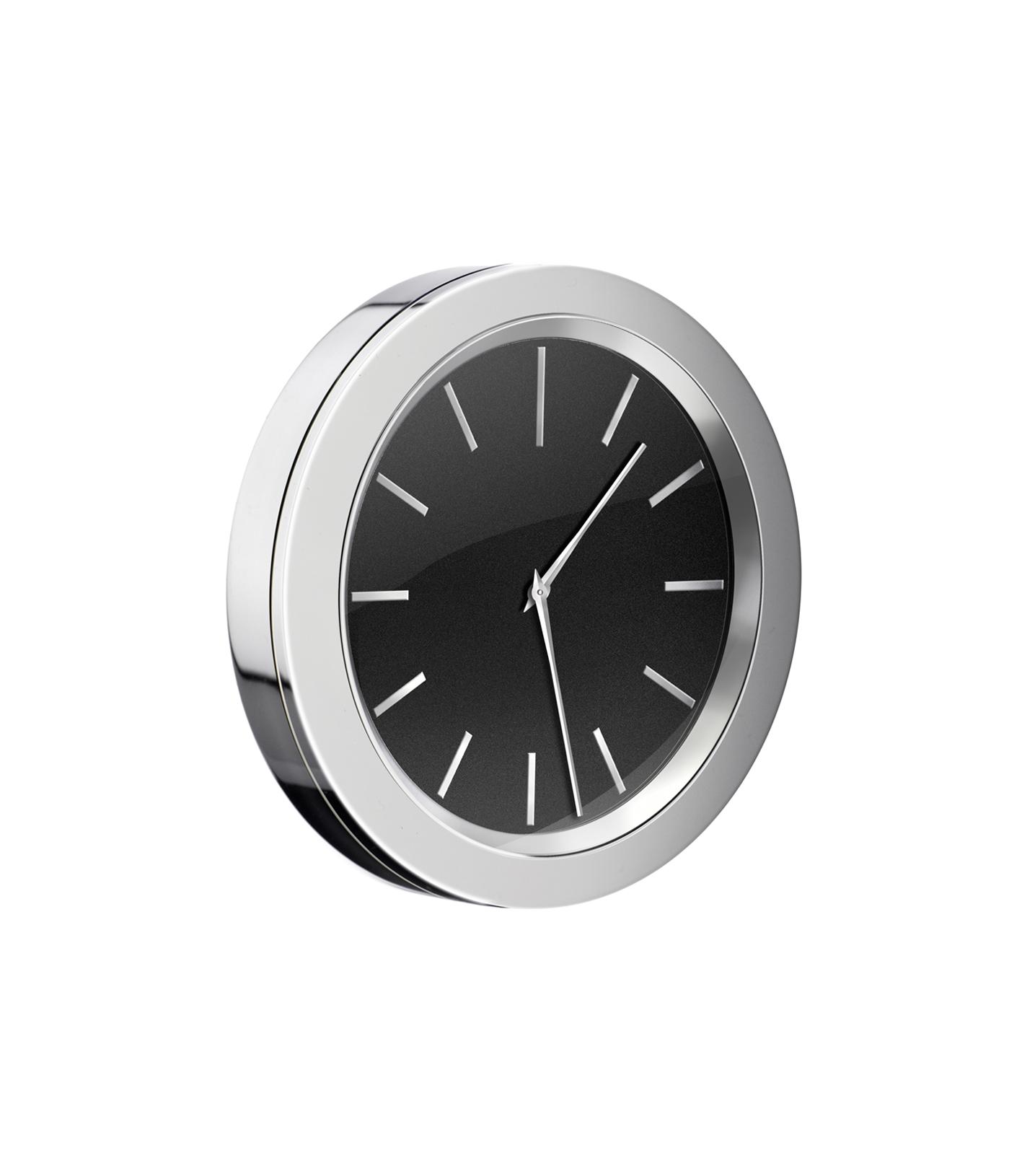 Details zu SMEDBO TIME glänzend Badezimmer-Uhr selbstklebend Bad-Wanduhr  schwarz YK8