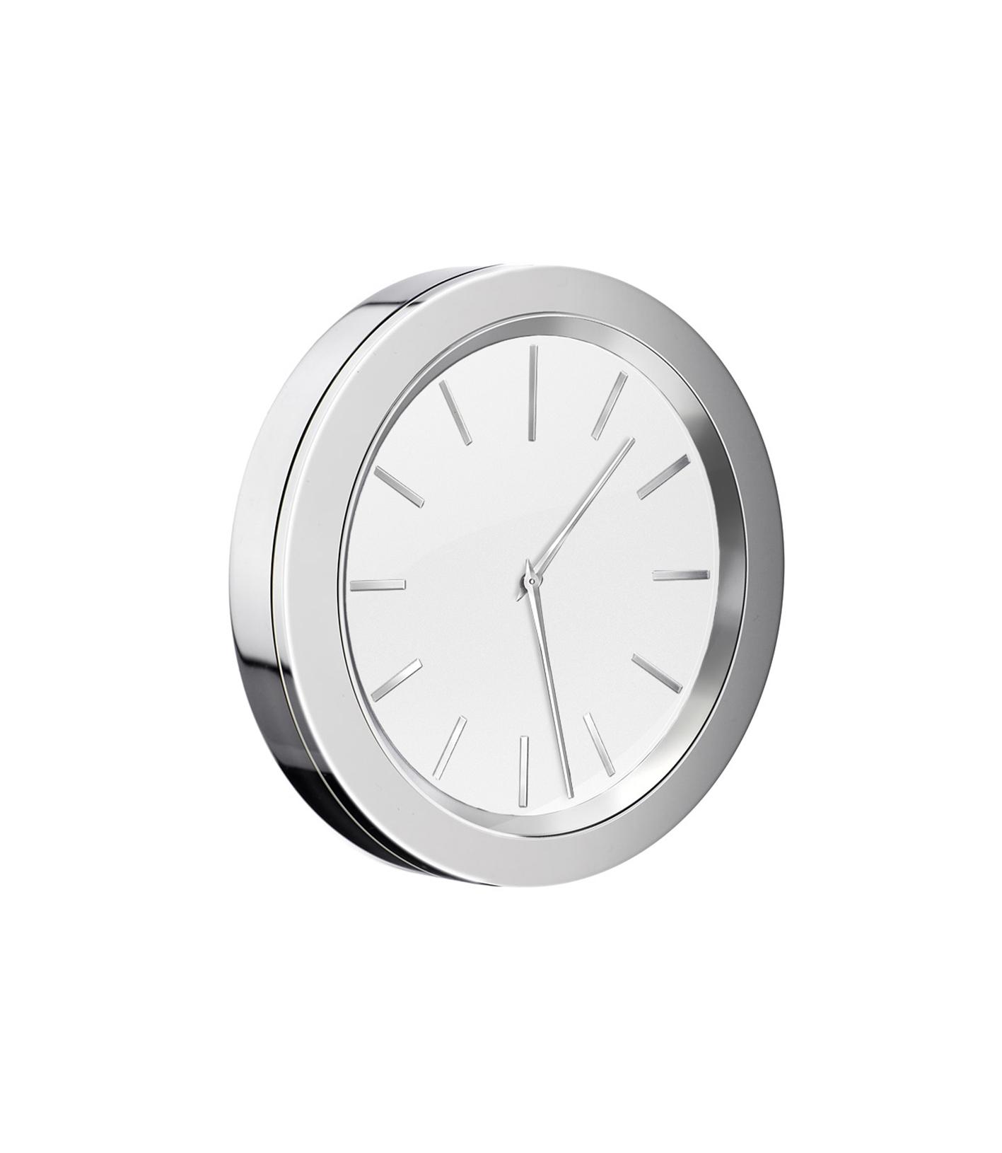 Details zu SMEDBO TIME glänzend Badezimmer-Uhr selbstklebend Bad-Wanduhr  weiß chrom YX11