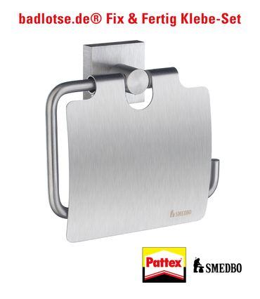 SMEDBO HOUSE WC-Papierhalter m.D. RS3414 Klebe-Set
