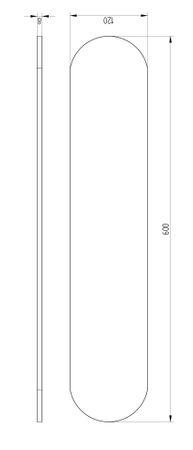 AVENARIUS Ersatzplatte 600 mm, Ersatzteil