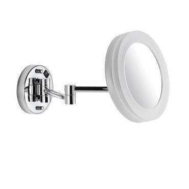 AVENARIUS Kosmetikspiegel Wand Direkt, rund, LED, 5-fach, 2-armig, Serie Kosmetikspiegel