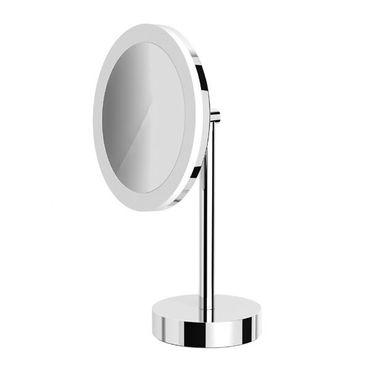 AVENARIUS Kosmetikspiegel Wand+Stand, Akku, rund, LED, 5-fach, Serie Kosmetikspiegel