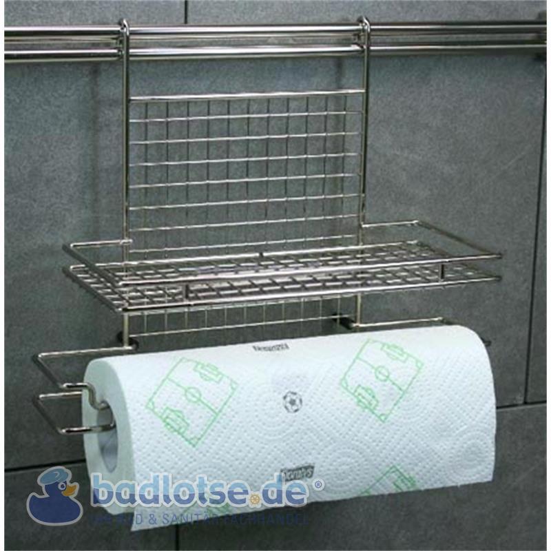 Relingsystem Küchenrollen-Halter KR09 Reling-System Küchenreling Ordung Küche Küchenregal