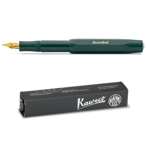 Kaweco Sport Classic Fountainpen green EF (extra fine)