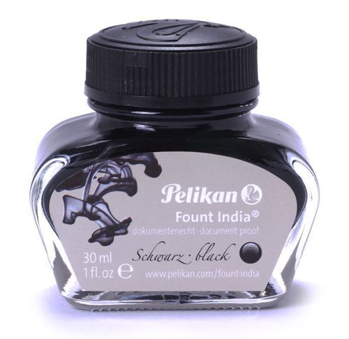 Pelikan Inkwell 4001 black Found India 30ml