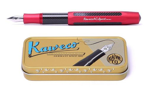 Kaweco AC Sport fountain pen red: B (bold) – image 1