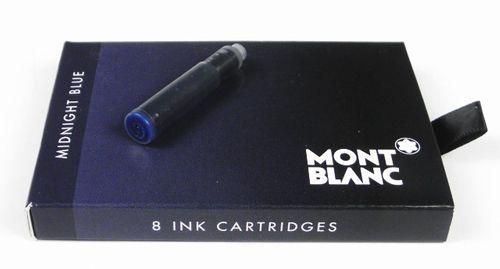 Montblanc Tintenpatronen Midnight Blue (8Stück)