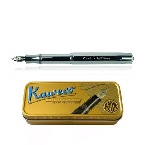 Kaweco AL Sport fountain pen, raw, high gloss finish Pen Nib: BB (extra bold) – image 1
