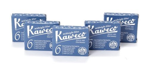 Kaweco Fountain Pen Ink Cartridges short, Midnight Blue (Blue Black), 30 pc.