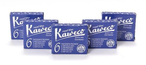 Kaweco Fountain Pen Ink Cartridges short, Royal Blue (Blue), 30 pc.