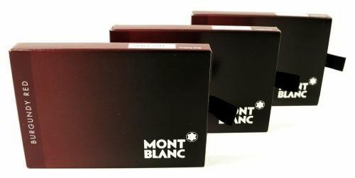 Montblanc 24 Ink Cartridges Burgundy Red
