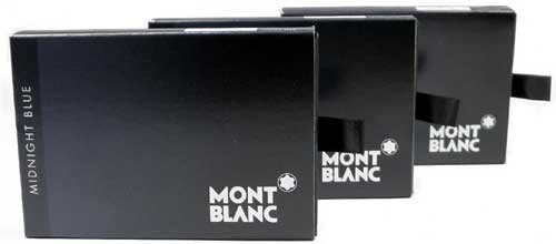 Montblanc 24 Ink Cartridges Midnight Blue