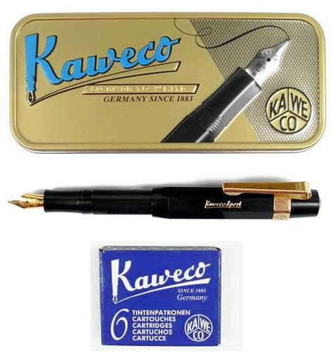 Kaweco Sport Classic Fountainpen black M set incl. cartidges, clip and giftbox – image 1