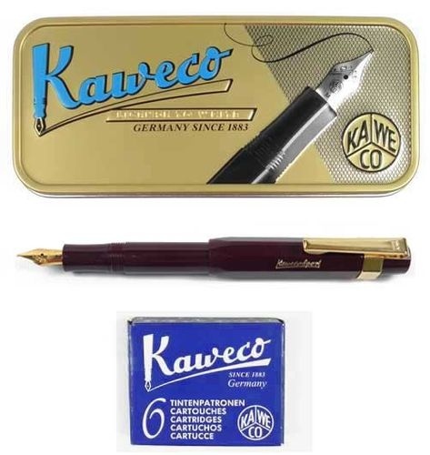 Kaweco Sport Classic Fountainpen bordeaux M set incl. cartidges, clip and giftbox – image 1