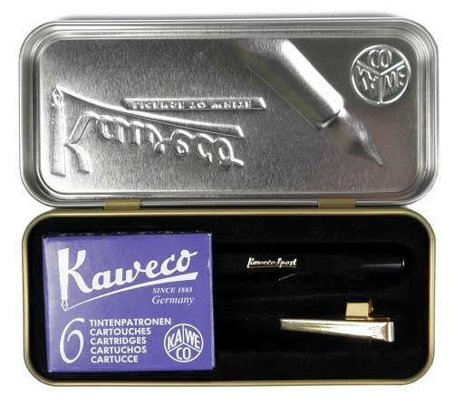 Kaweco Sport Chess Set Fountain Pen black EF + Cartridges and Clip – image 2