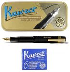 Kaweco Sport Chess Set Fountain Pen black F + Cartridges and Clip