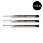 3 Kaweco Kugelschreiberminen G2 schwarz 0.8