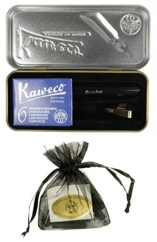 Gift Set Kaweco Sport Classic Fountainpen black EF including clip and cartridges – image 4