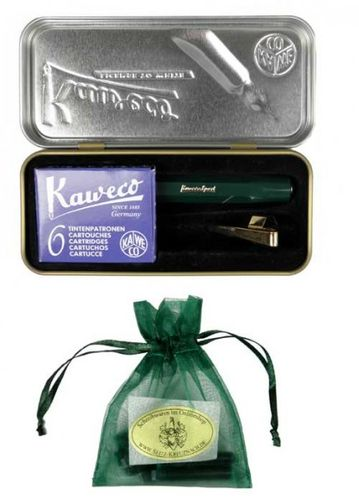 Gift Set Kaweco Sport Classic Fountainpen green BB set incl. clip and cartridges – image 3