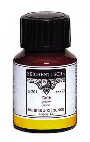 Rohrer & Klingner Drawing Indian Ink Yellow 50 ml