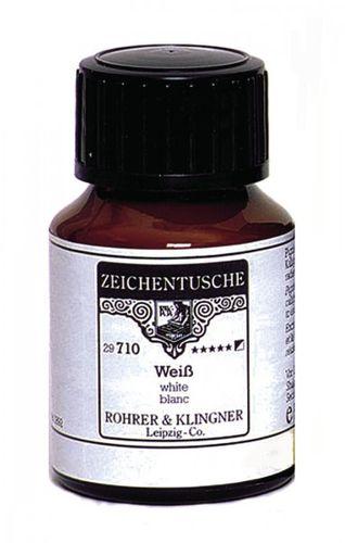 Rohrer & Klingner Zeichentusche Weiß 50 ml