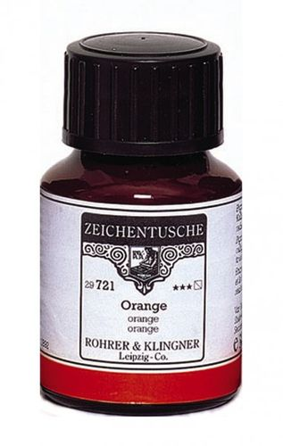 Rohrer & Klingner Drawing Indian Ink Orange 50 ml