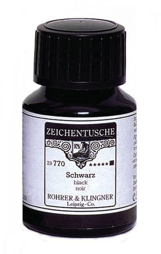 Rohrer & Klingner Zeichentusche Schwarz 50 ml