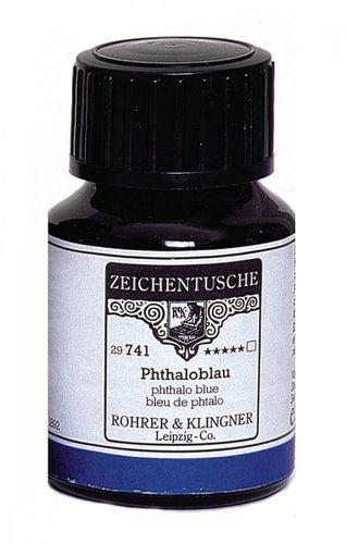 Rohrer & Klingner Zeichentusche Phthaloblau 50 ml
