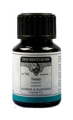 Rohrer & Klingner Drawing Indian Ink Turquoise 50 ml