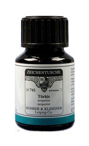 Rohrer & Klingner Zeichentusche Türkis 50 ml