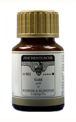 Rohrer & Klingner Zeichentusche Gold 50 ml