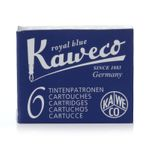 Kaweco Fountain Pen Ink Cartridges short, Royal Blue (Blue), Pack of 6
