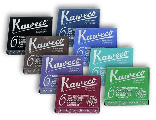 Kaweco Fountain Pen Ink Cartridges short, 8 colors, 8 x 6 pieces