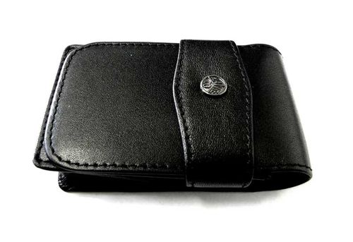 Kaweco 3 pcs flap case, leather black for sport series