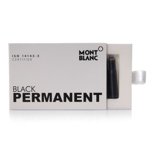Montblanc Ink Cartridges Permanent Black 8 per package