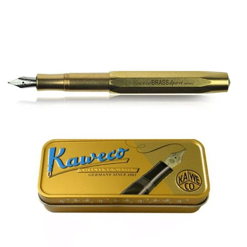 Kaweco Sport Fountain Pen Brass Nib: F