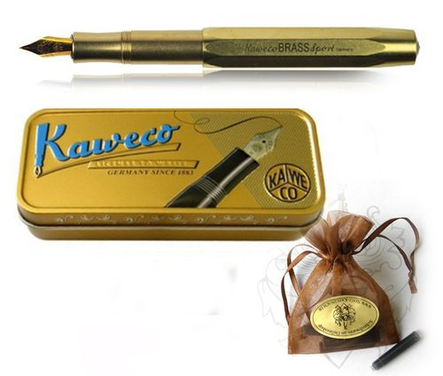 Kaweco Sport Fountain Pen Brass with golden Nib: M