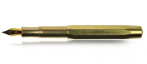 Kaweco Sport Fountain Pen Brass with golden Nib: B – image 2
