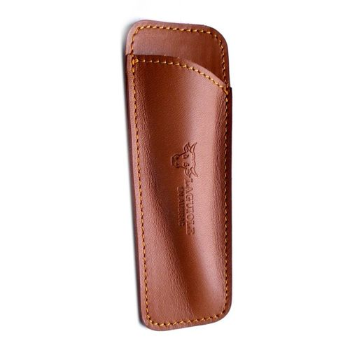 Laguiole en Aubrac Leather sheath, handcrafted, for 10cm Handle, PCA /Brown – image 1