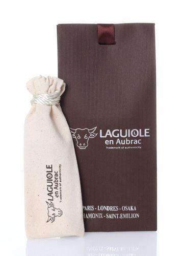 Laguiole en Aubrac Taschenmesser, Korkenzieher, Wacholderholz, polierte Messingbacken L0312GEL – Bild 4