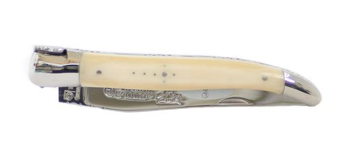 Laguiole en Aubrac Pocket Knife, Bone, polished Steel Baking L0212OSI – image 2