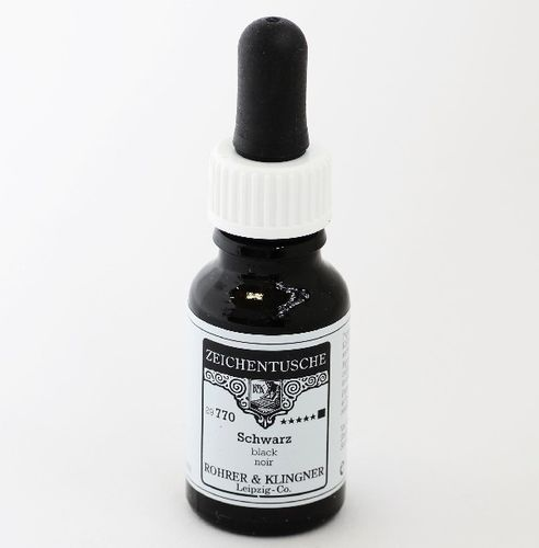 Rohrer & Klingner Drawing Indian Ink black 12 ml – image 1