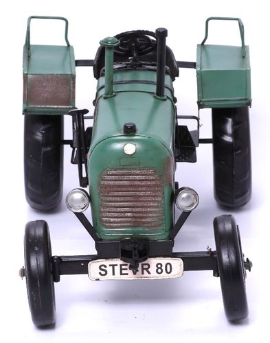 Modellauto - Traktor Steyer 80 - Retro Blechmodell – Bild 3