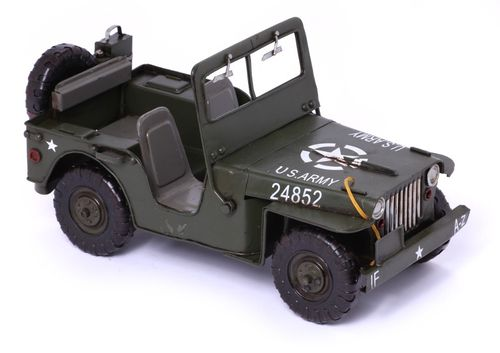 Modellauto Jeep Willys MB - Retro Blechmodell – Bild 1