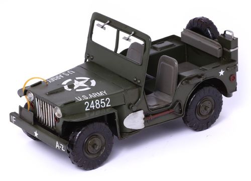 Modellauto Jeep Willys MB - Retro Blechmodell – Bild 2