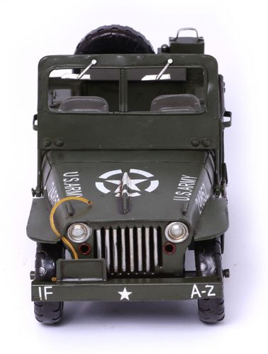 Modellauto Jeep Willys MB - Retro Blechmodell – Bild 3