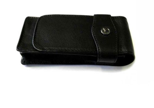 Kaweco 3 pcs flap case, leather black for dia series
